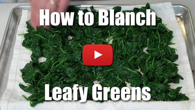 How to Blanch Leafy Greens