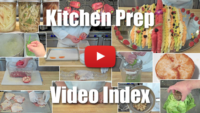 Kitchen Prep Video Index
