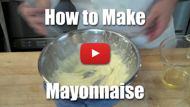 How to Make a Basic Mayonnaise - Video