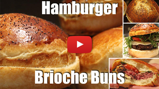 Hamburger Brioche Buns - Video Recipe