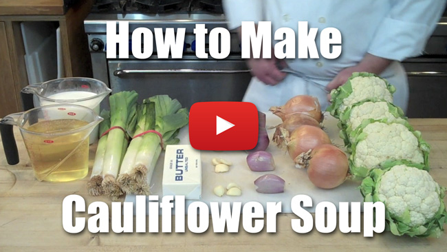 Cauliflower Soup - Video Recipe