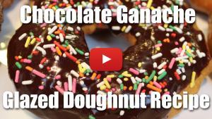 How to make a chocolate ganache glazed doughnut.