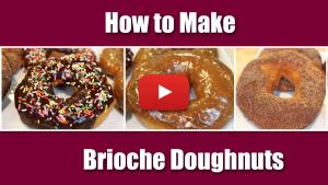 How to make brioche doughnuts. Video Recipe.