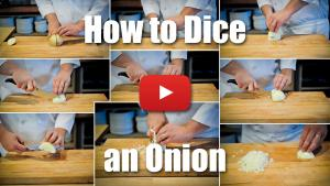 This video will teach you how to dice an onion.