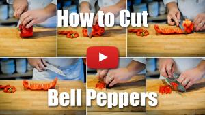 How to Slice, Cut, Julienne, and Dice a Bell Pepper - Culinary Knife Skills Video