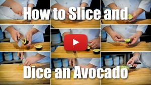 How to Pit, Slice and Dice an Avocado - Video Technique