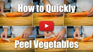 How to Quickly Peel Vegetables Like a Professional Chef