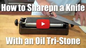 How to Sharpen a Knife Using an Oil Stone - Video Technique