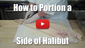 How to Portion a Side of Halibut - Video Technique - Culinary Knife Skills