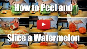 How to Peel and Slice a Watermelon - Culinary Knife Skills