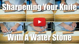 How to Sharpen a Knife Using a Water Stone - Video Technique