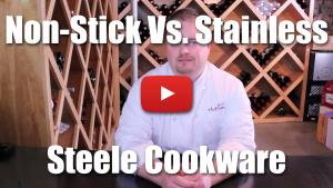 When should I use stainless steel versus a non-stick pan for cooking?