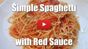 Simple Spaghetti with Red Sauce - Video Technique