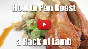 How to Pan Roast a Rack of Lamb - Video Technique