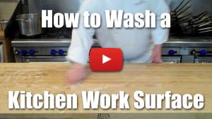 How to Wash, Clean and Sanatize a Kitchen Work Surface Efficiently - Video Demonstration