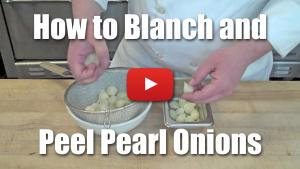 How to Blanch and Peel Pearl (baby) Onions - Video Technique