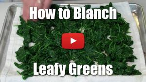 How to Blanch Leafy Greens - Video