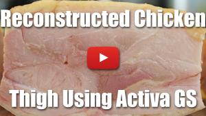 Reconstructed Chicken Thigh Using Activa GS - Video Technique