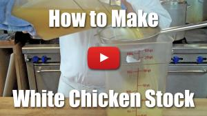 How to Make White Chicken Stock - Video Technique