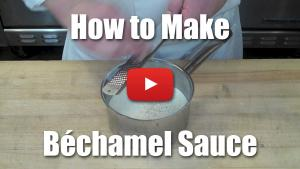 This video will teach you how to make culinary school bechamel sauce, a milk based cream sauce.